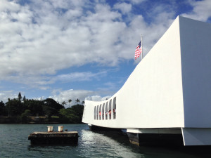 The USS Arizona Memorial, Pearl Harbor 1